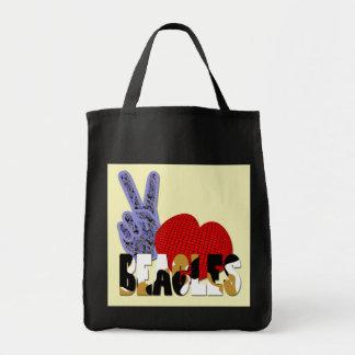 Beagles del amor de la paz bolsas