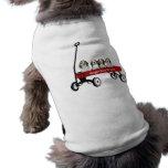 Beagles en ropa del mascota del carro camiseta de perrito