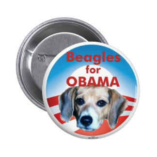 Beagles for Obama 2 Inch Round Button
