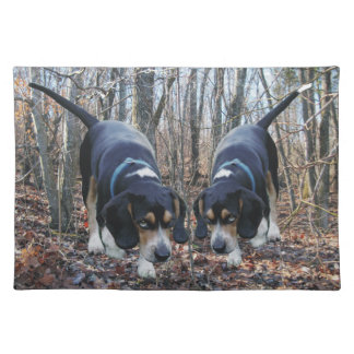 Beagles Hunting in the Woods Placemat