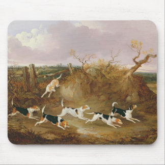 Beagles in Full Cry, 1845 (oil on canvas) Mouse Pad