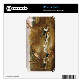 Beagles in Full Cry, 1845 (oil on canvas) Skin For The iPhone 4S