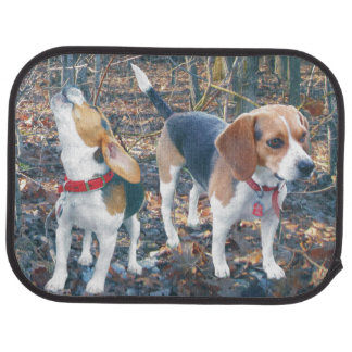 Beagles in the Woods Beagle Car Mats