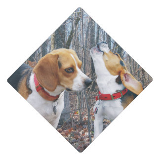 Beagles in the Woods Graduation Cap Topper