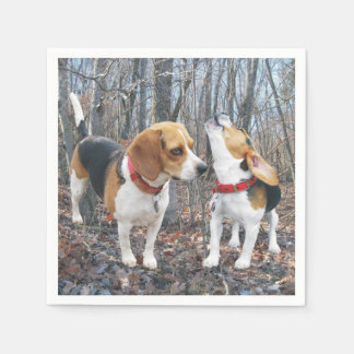 Beagles In The Woods Napkins