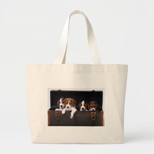Beagles Large Tote Bag