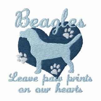 Beagles Leave Paw Prints Blue Women's