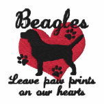 Beagles Leave Paw Prints Women's Embroidered Hoody