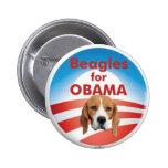 Beagles para Obama Pin