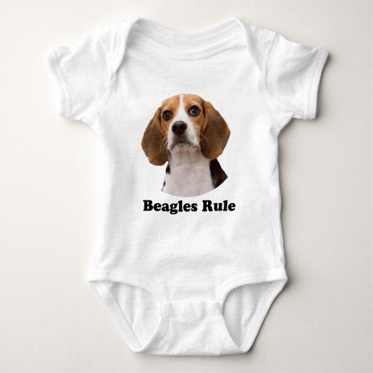 Beagles Rule Baby Bodysuit