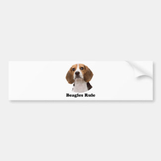 Beagles Rule Bumper Sticker