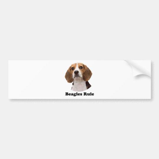 Beagles Rule Bumper Sticker