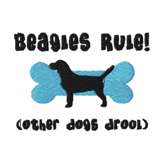 Beagles Rule Embroidered Shirt (T-Shirt)