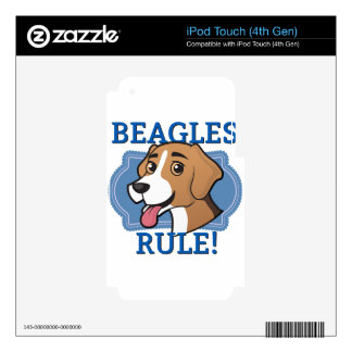 Beagles Rule! iPod Touch 4G Decal