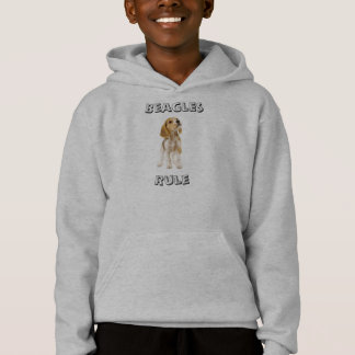 Beagles Rule Puppy Hooded Hoodie Sweatshirt