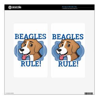 Beagles Rule! Skin For Kindle Fire