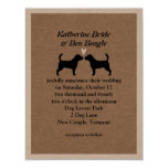 Beagles Wedding Invitation