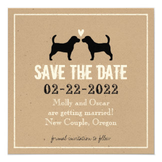 Beagles Wedding Save The Date Card