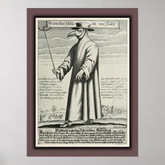 Beak Costume Roma de la plaga del doctor Póster