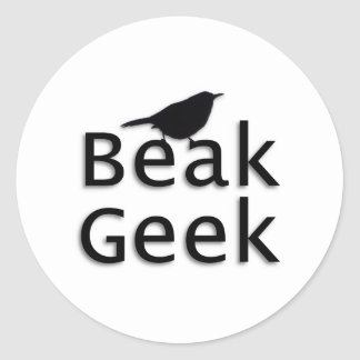 Beak Geek-- Wren Classic Round Sticker