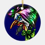 Beak Nose Evil Clown Double-Sided Ceramic Round Christmas Ornament