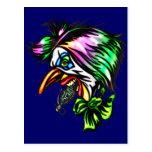 Beak Nose Evil Clown Postcard