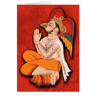 Beaked Holy Man with Wings Card