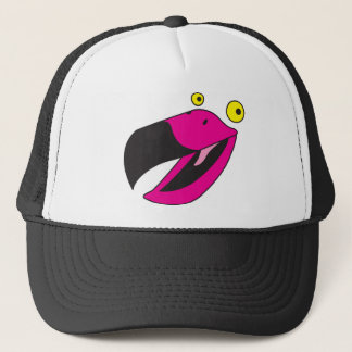 Beaker bird with funny face trucker hat