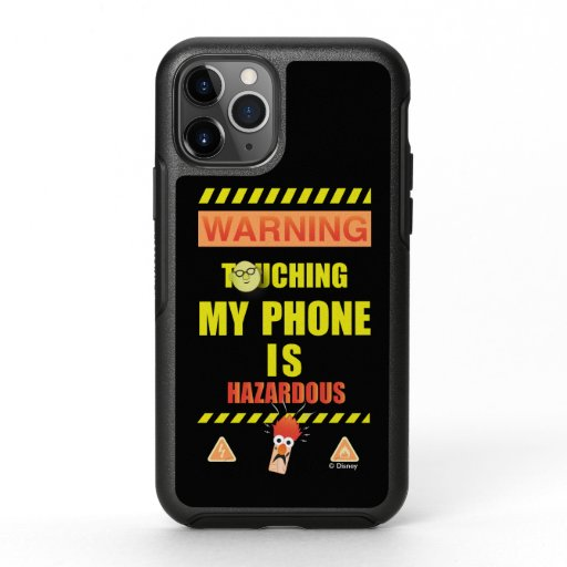 Beaker & Bunsen | Touching My Phone Is Hazardous OtterBox Symmetry iPhone 11 Pro Case