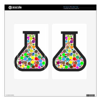 Beaker with Rainbow Chemicals Kindle Fire Decals