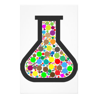 Beaker with Rainbow Chemicals Stationery