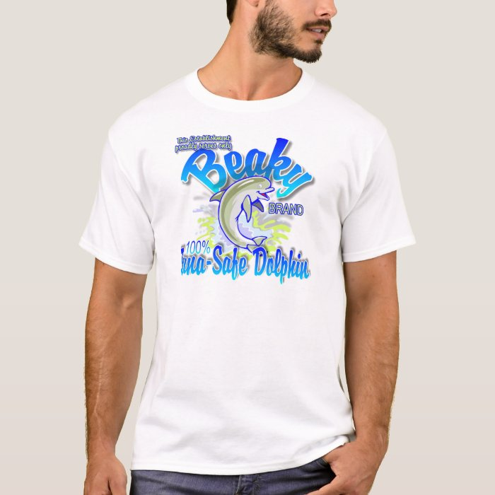 Beaky Brand Tuna-Safe Dolphin T-Shirt