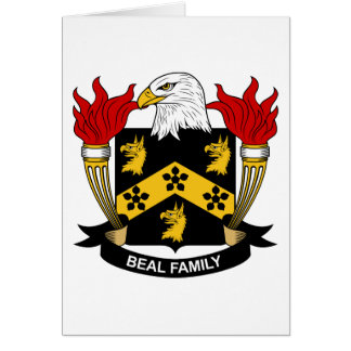 Beal Family Crest Card