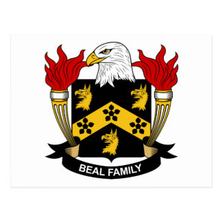 Beal Family Crest Postcard