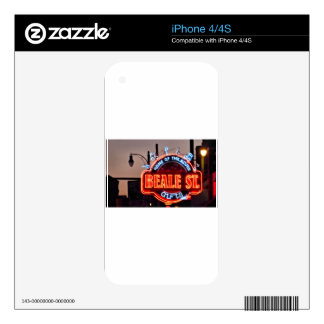 Beale Street iPhone 4 Decal