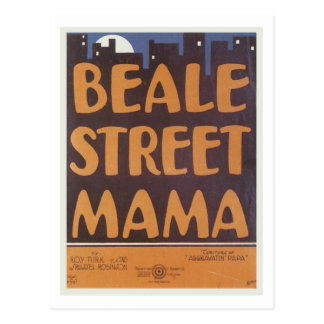 Beale Street Mama Vintage Songbook Cover Postcard