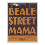 Beale Street Mama Vintage Songbook Cover Poster