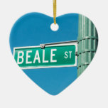 Beale Street sign Christmas Ornament