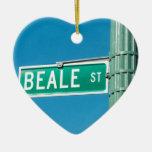 Beale Street sign Christmas Ornament
