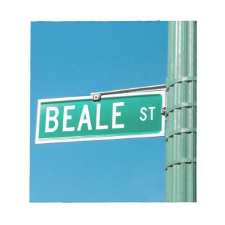 Beale Street sign Memo Note Pads