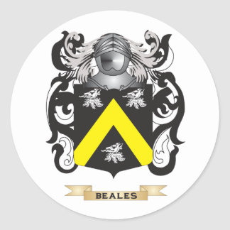 Beales Coat of Arms (Family Crest) Round Stickers