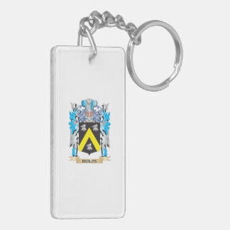Beales Coat of Arms Rectangle Acrylic Key Chain