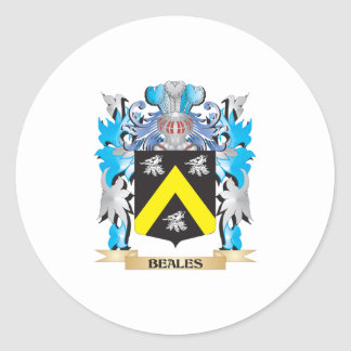 Beales Coat of Arms Round Stickers