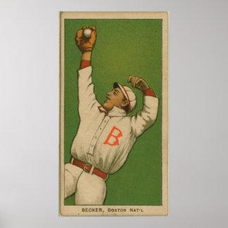 Beals Becker, palomas de Boston Póster