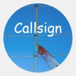 Beam Antenna and Callsign Stickers