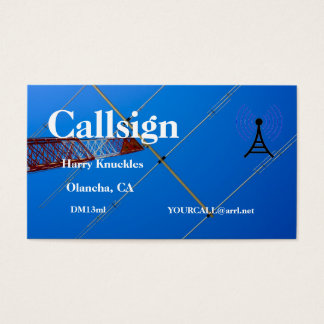 Beam Antenna on Red and White Tower Business Card
