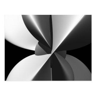 Beam Black & White Fine Abstract Fractal Postcard