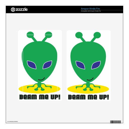 Beam Me Up Decals For Kindle Fire