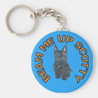 Beam Me UP Scotty Keychain. Basic Round Button Keychain