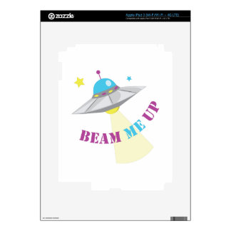 Beam Me Up Decals For iPad 3
